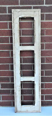 "SPANISH COLONIAL ANTIQUE 3 PANE WINDOW FRAME MEXICO 43 3/4 x 11 1/2 x 1 1/4"" q"
