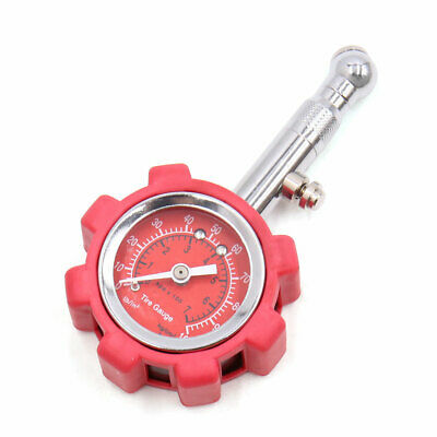 Red Portable Tyre Tire Air Pressure Gauge 0-100PSI Tester Meter for Car Vehicle