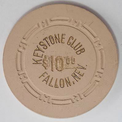 1950's Keystone Cub $10 3rd Edition Casino Chip Fallon NV