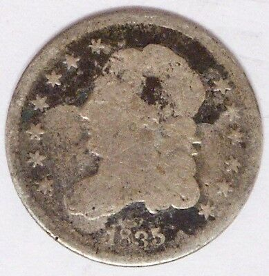 USA 1835 Capped Bust Half Dime Good Condition