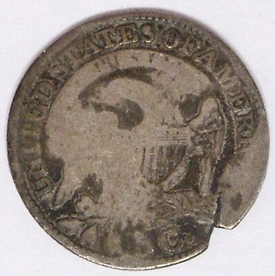 USA 1831 Capped Bust Half Dime About Good Damage