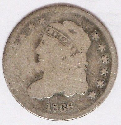 USA 1836 Capped Bust Half Dime Good Condition