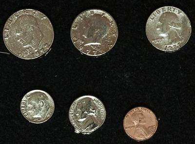 6mm to 8mm Complete set of 6 Mini Coins Inflation Money Funny Money
