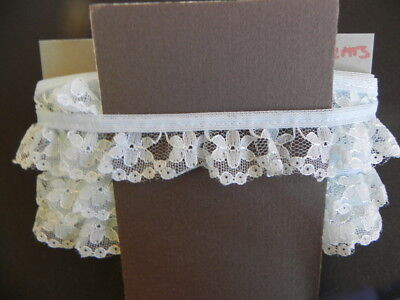 Card of New Gathered Lace - Blue