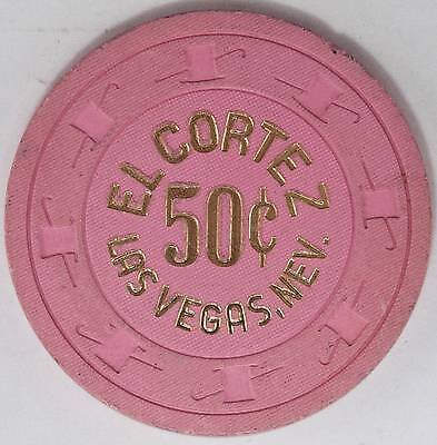 1970's El Cortez Hotel .50 8th Edition Casino   Gaming Chip Las Vegas, NV