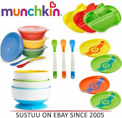 Munchkin Self-Feeding Toddler Bowls/ Heat Sensor Plates/ Feeding Spoon