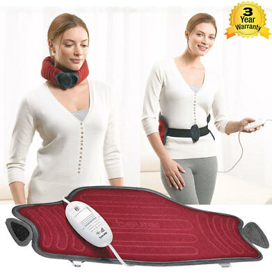 New Beurer HK55 Body & Neck Micro Fleece Heating Pad Tired Sore Muscles Joints