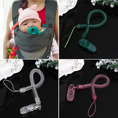 Baby Kids Boy Girl Chain Clip Spring Dummy Pacifier Soother Nipple Leash Strap
