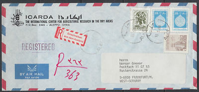 1984 Syrien Syria R-Cover to Germany [ck049]