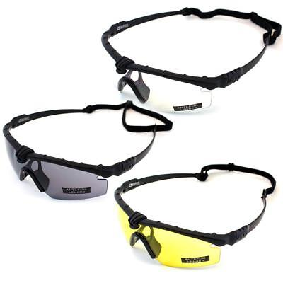 Nuprol Airsoft Battle Pro Safety Glasses Black Frame Various Colours 6042