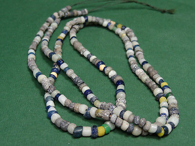 Ancient Glass Bead Necklace Roman 100 Bc - 100 Ad