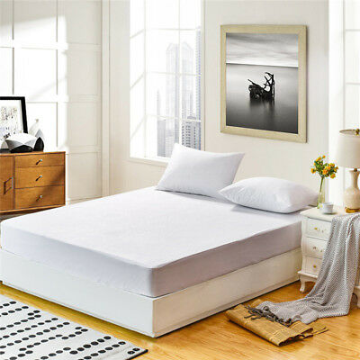 Hotel Cotton Zippered Mattress Protector Waterproof Vinyl Bed Cover Bedspread