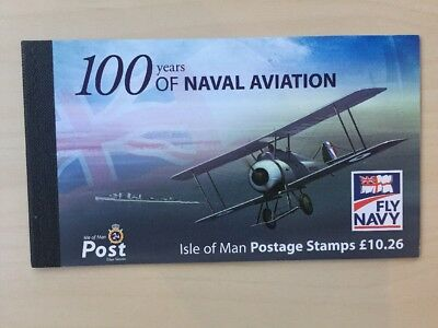 2009 Isle Of Man Stamp Booklet Sb71 'naval Aviation' £10.26