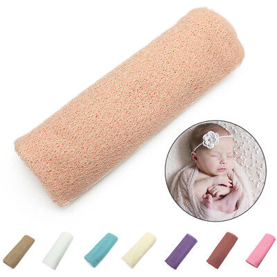 50*160cm Newborn Baby Stretch Knit Wrap Wrapped Towel Photography Wraps Props