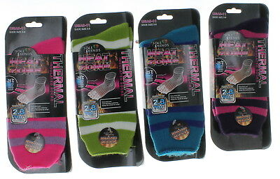 4 Pairs Womens Thermal Insulated Socks Size 9-11 Ladies Heat Zone 2.3 TOG Rating