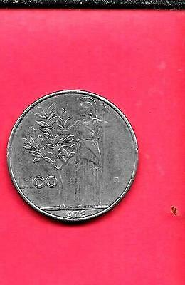 Italy Italian Km96.1 1978 Vf-Very Fine-Nice Old Vintage Large 100 Lire Coin