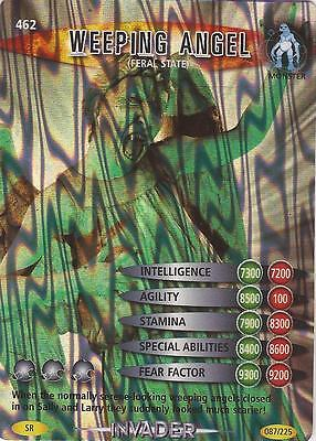"Doctor Who Battles In Time Invader - Super Rare SR ""Weeping Angel"" Card #462"