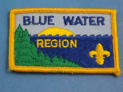 Boy Scouts Scouts Canada Blue Water Region District Patch Vintage Collect Badge