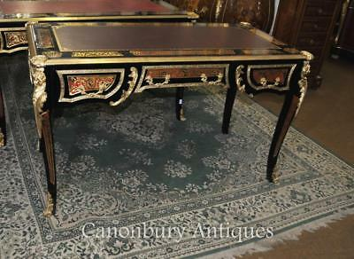 Boulle Desk Writing Table Buhl Inlay French Bureau Plat