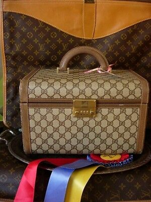 Ultra RARE Vintage GUCCI Train Case Tote Duffel Luggage Travel Suitcase Keepall