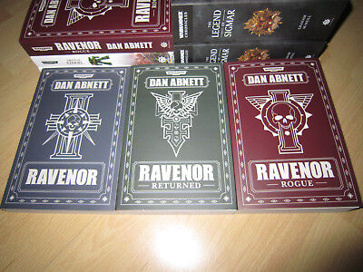 Dan Abnett THE RAVENOR TRILOGY 1st/Pb MINT Warhammer 40K Ravenor Books 1, 2 & 3