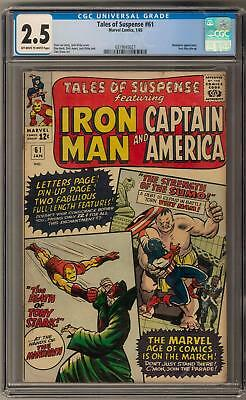 Tales of Suspense #61 CGC 2.5 (OW-W) Jack Kirby Cover Art