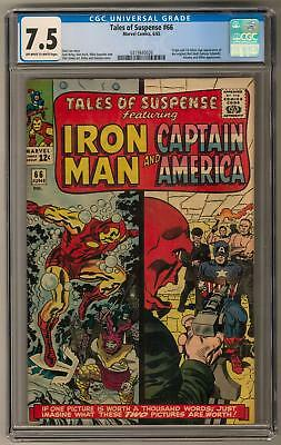 Tales of Suspense #66 CGC 7.5 (OW-W) 1st SA Appearance of Original Red Skull