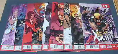 - Wolverine And The X-Men / 1,2,3,4,5,6,7,8,9 / 9 Comic Books 2014 Series ! -
