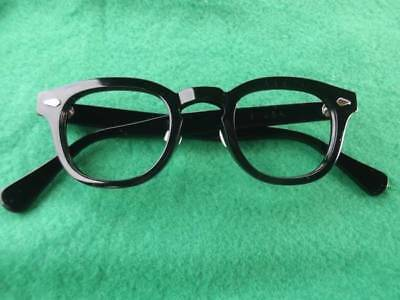 Black Tart Arnel Eyeglasses 50's 60's ORIGINAL Excellent Condition Size Large