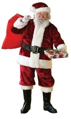 Rubie's Crimson Regal Santa Claus Christmas Suit Adult XL Wig and Beard Included