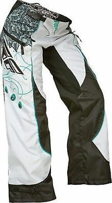 NEW FLY RACING KINETIC BOOT CUT LADIES  GIRLS PANT PANTS SIZE 11/12  teal/white