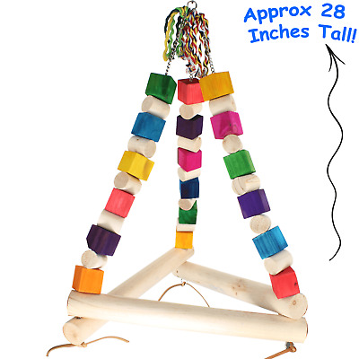 1297 Jumbo Swing Tri Parrot Bird Cage Toys Cages Toy Chew Amazon Macaw Cockatoo