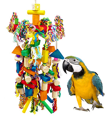 1093 Huge Raggedy Bonka Bird Toys Cage Cages Toy Chewy Amazon Macaw Cockatoo