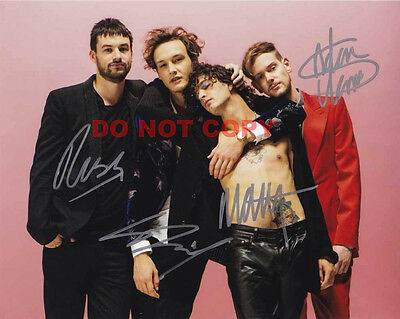 REPRINT RP 8x10 Signed Photo: The 1975 Band