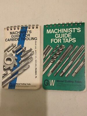 G&W Morse Cutting Tools Machinists Guide For Taps & Carbide Tooling Old Vintage