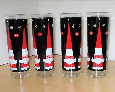 Dairy Queen Christmas Glass Set, 4 Holiday Glasses