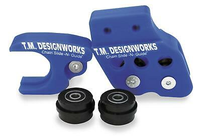 TM Design Works Factory Edition 2 Rear Chain Guides Blue RCG-YA85-BU