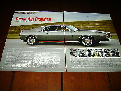1973 American Motors Amc Javelin Amx Hot Rod ***original 2012  Article***