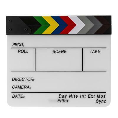 Flashpoint Acrylic Dry Erase Sync Slate with Color Clappers #FPCLAPERC