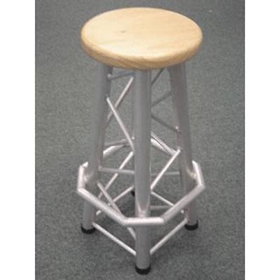 Global Truss Bar Stool Style Chair with Solid Wooden Seat, Straight Legs