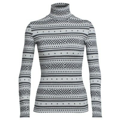 Icebreaker Vertex LS Turtleneck women icon fairisle snow Rollkragenpullover