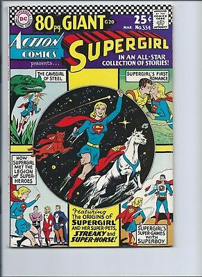 Action Comics 334 - F/vf 7.0 - Supergirl - Superboy - 80 Page Giant G-20 (1966)