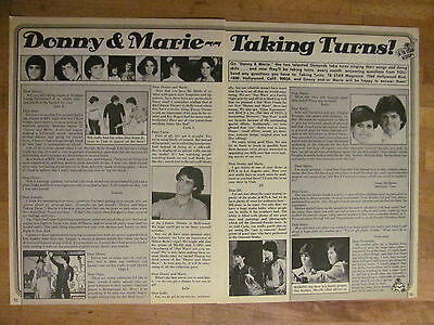 Donny and Marie Osmond, Osmond Brothers, Nice Vintage Clipping, Osmonds