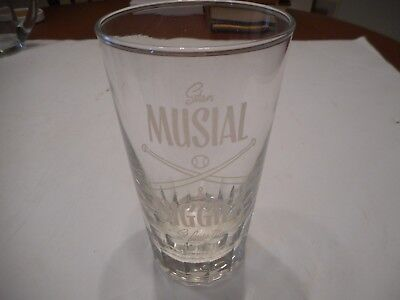 Vintage Stan Musial & Biggie's Restaurant Glass Tumbler Lot Of 2 St. Louis