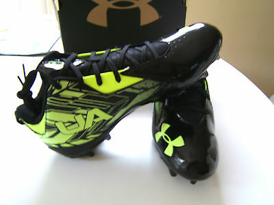 Under Armour  Mens/boys Ua Ripshot Mid Mc Lacrosse Cleats. Nib Size 9