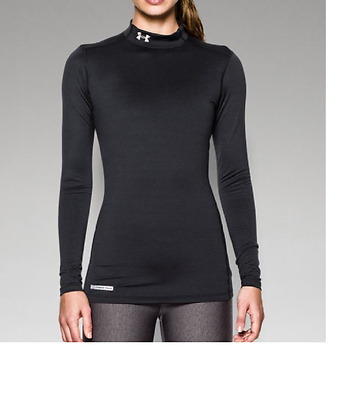 Under Armour Women's ColdGear Fitted Mock New Womens SMALL MSRP $50 1215968 001