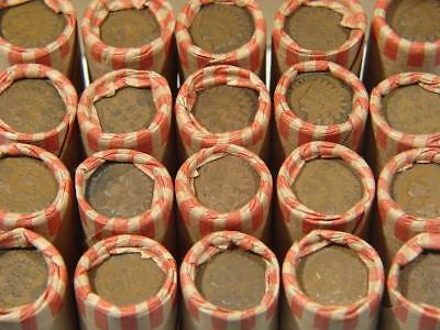1 Shotgun Roll Of Wheat Cents Coins With Indian Head Cent On End 1859-1958