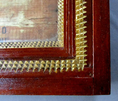 Large ANTIQUE 19th Century TRAMP ART Hand Made Folk Art  WOODEN PICTURE FRAME