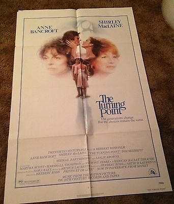 THE TURNING POINT Anne Bancroft  ORIGINAL 1977 US ONE SHEET MOVIE POSTER