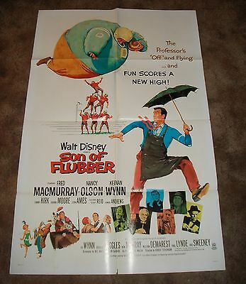 Walt Disney SON OF A FLUBBER Rare VINTAGE 1970 ONE SHEET MOVIE POSTER